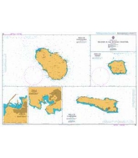 British Admiralty Nautical Chart 193 Islands in the Sicilian Channel