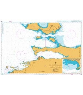 British Admiralty Nautical Chart 230 Canal de Margarita to Bahia de Barcelona