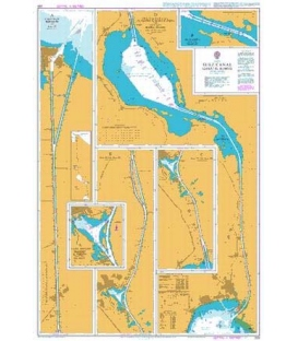 British Admiralty Nautical Chart 233 Suez Canal (Qanat as Suways)