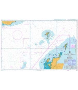 British Admiralty Nautical Chart 245 Scotland to Iceland