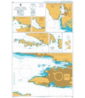 British Admiralty Nautical Chart 269 Ploce and Split with Adjacent Harbours, Channels and Anchorages