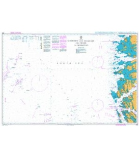 British Admiralty Nautical Chart 299 Statfjord and Gullfaks Oil Fields to Mongstad