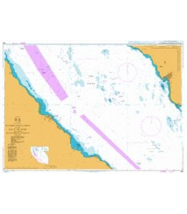 British Admiralty Nautical Chart 333 Offshore Installations in the Gulf of Suez including Ra's Shuqayr (Ras Shukheir)