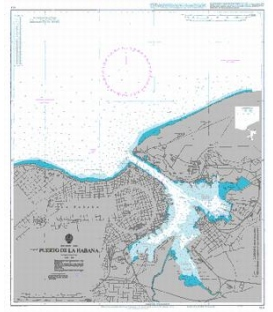 British Admiralty Nautical Chart 414 Puerto de la Habana