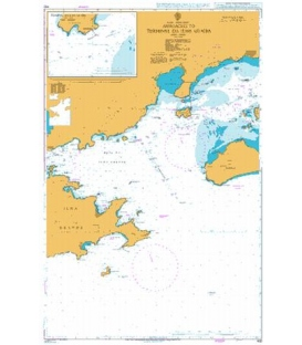 British Admiralty Nautical Chart 432 Approaches to Terminal da Ilha Guaiba
