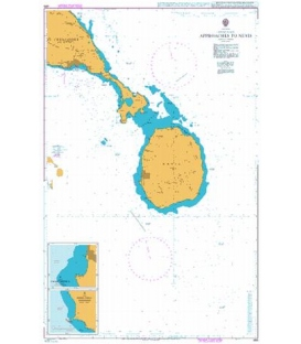 British Admiralty Nautical Chart 489 Approaches to Nevis
