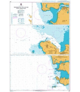 British Admiralty Nautical Chart 492 Mormugao and Panaji with Approaches