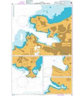 British Admiralty Nautical Chart 499 Harbours in Saint Lucia