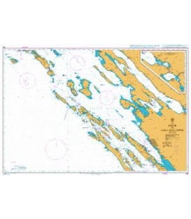 British Admiralty Nautical Chart 515 Zadar to Luka Mali Losinj