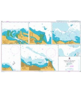 British Admiralty Nautical Chart 526 Ports on the North Coast of Brazil