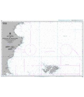 British Admiralty Nautical Chart 558 Isla Leones to Estrecho de Magallanes including the Falkland Islands