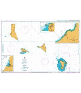 British Admiralty Nautical Chart 563 Comores