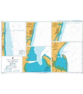 British Admiralty Nautical Chart 575 Ports and Anchorages on the East Coast of India