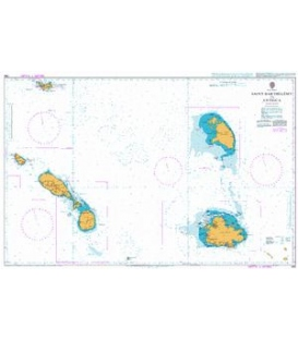 British Admiralty Nautical Chart 584 Saint Barthelemy to Antigua