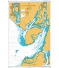 British Admiralty Nautical Chart 586 Outer Approaches to Guayaquil