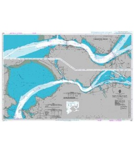 British Admiralty Nautical Chart 590 San Pablo Bay including Carquinez Strait and Suisun Bay