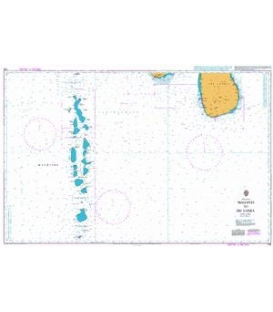 British Admiralty Nautical Chart 709 Maldives to Sri Lanka