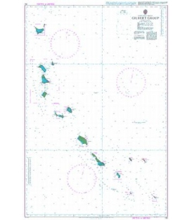 British Admiralty Nautical Chart 731 Gilbert Group