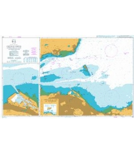British Admiralty Nautical Chart 735 Firth of Forth Approaches to Leith and Burntisland