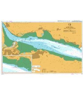 British Admiralty Nautical Chart 737 River Forth Rosyth to Kincardine