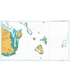 British Admiralty Nautical Chart 744 Suva Harbour to Koro Island