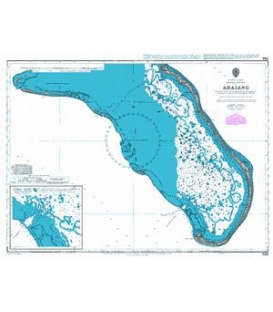 British Admiralty Nautical Chart 755 Abaiang