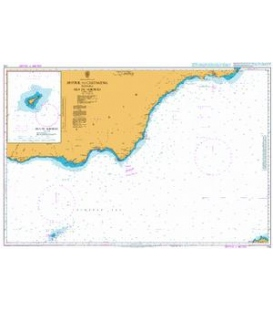 British Admiralty Nautical Chart 774 Motril to Cartagena including Isla de Alborán