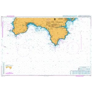 British Admiralty Nautical Chart 777 Land's End to Falmouth