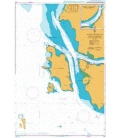 British Admiralty Nautical Chart 792 Sungai Manjung (Sungai Dinding) and Approaches
