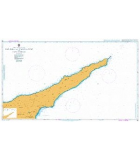 British Admiralty Nautical Chart 796 Cape Eloea and Stazousa Point to Cape Andreas