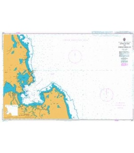 British Admiralty Nautical Chart 815 Approaches to Trincomalee