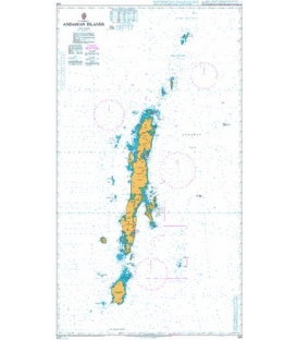 British Admiralty Nautical Chart 825 Andaman Islands