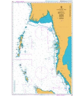 British Admiralty Nautical Chart 830 Andaman Sea