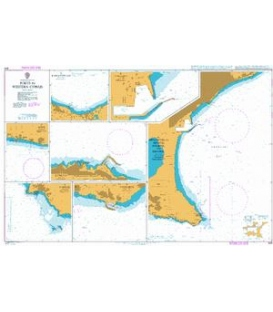 British Admiralty Nautical Chart 849 Ports in Western Cyprus