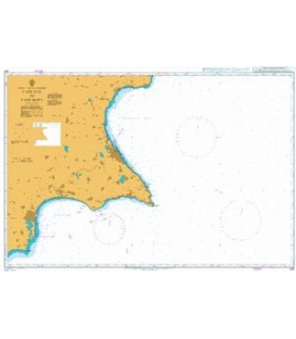 British Admiralty Nautical Chart 851 Cape Kiti to Cape Eloea
