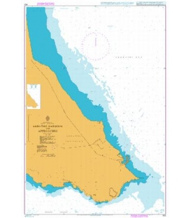 British Admiralty Nautical Chart 852 Akrotiri Harbour and Approaches
