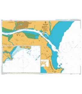 British Admiralty Nautical Chart 854 Approaches to Shantou