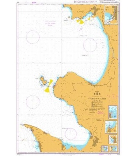 British Admiralty Nautical Chart 875 Tylon to Kullen