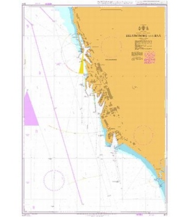 British Admiralty Nautical Chart 877 Helsingborg and Raa