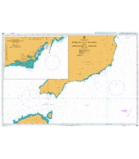 British Admiralty Nautical Chart 0886 Estrecho de la Bocayna and Approaches to Arrecife
