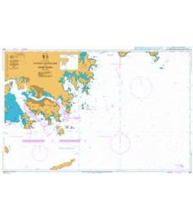 British Admiralty Nautical Chart 937 Eastern Approaches to Hong Kong