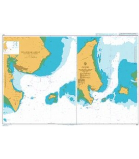 British Admiralty Nautical Chart 947 Approaches To Pelabuhan Labuan (Victoria Harbour)