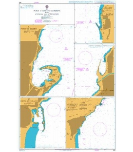 British Admiralty Nautical Chart 992 Ports in Stretto di Messina with Catania and Approaches
