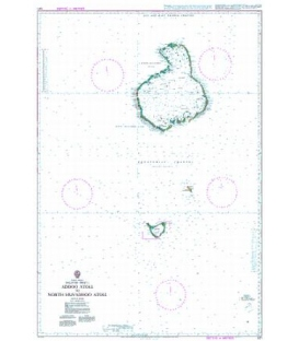 British Admiralty Nautical Chart 1011 Addoo Atoll to North Huvadhoo Atoll