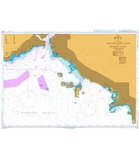 British Admiralty Nautical Chart 1015 Southern Approaches to Istanbul Bogazi
