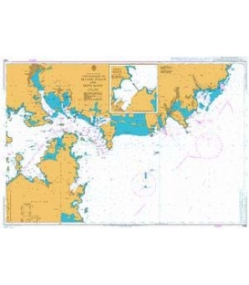 British Admiralty Nautical Chart 1065 Approaches to Masan, Busan, Busan New Port and Okpo Hang