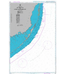 British Admiralty Nautical Chart 1097 Key Biscayne to Lower Matecumbe Key