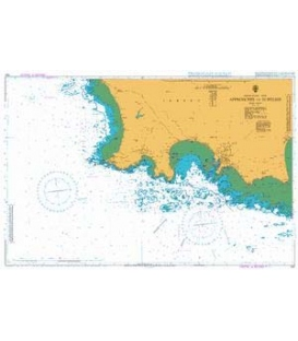 British Admiralty Nautical Chart 1137 Approaches to St Helier