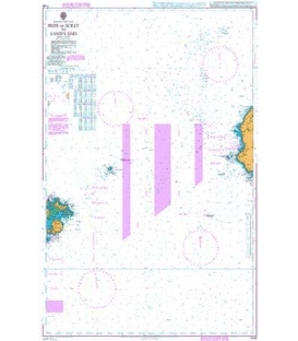 British Admiralty Nautical Chart 1148 Isles of Scilly to Land's End