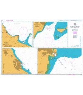 British Admiralty Nautical Chart 1162 Sfax and Sousse with Approaches